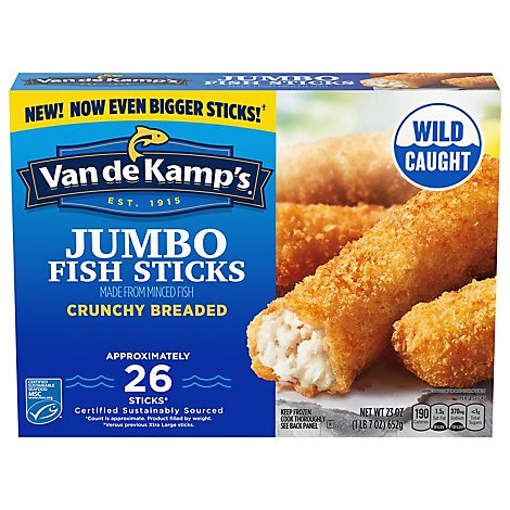Van de Kamps Extra Large Crispy Fish Sticks - 23 Oz.