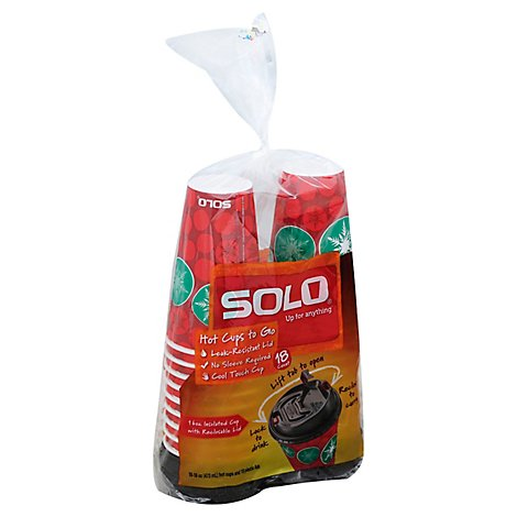 Solo Cups Hot To Go 16 Ounce - 18 Count