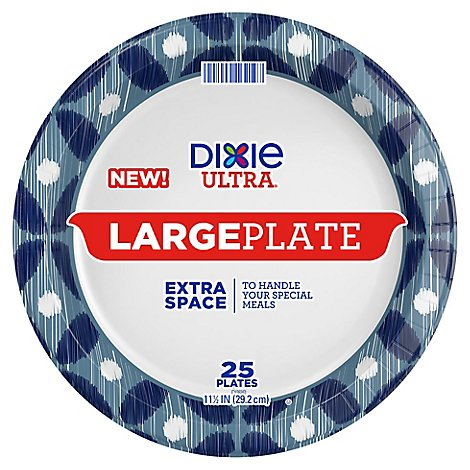 Dixie Ultra Large Printed Paper Plates 11.5 Inch - 25 Count