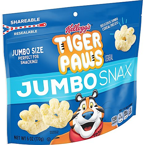Tiger Paws Jumbo Snax Cereal Snacks Original - 6 Oz