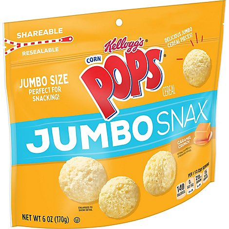 Corn Pops Jumbo Snax Cereal Snacks Caramel Crunch - 6 Oz