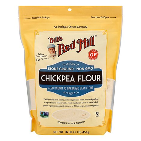 Bobs Red Mill Flour Chickpea Stone Ground - 16 Oz
