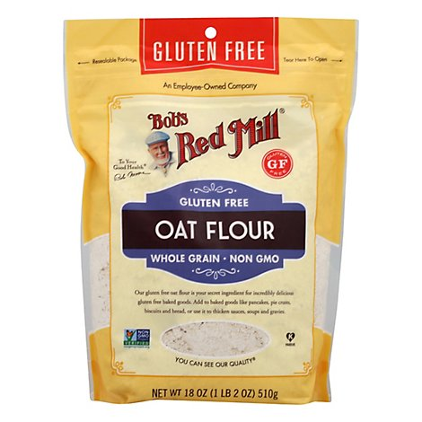 Bobs Red Mill Flour Oat Gluten Free Whole Grain - 18 Oz