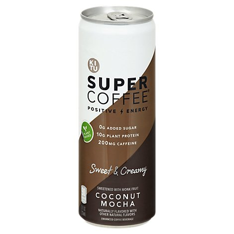 Kitu Super Coffee Protein + MCT Oil Coconut Mocha - 12-11 Fl. Oz.