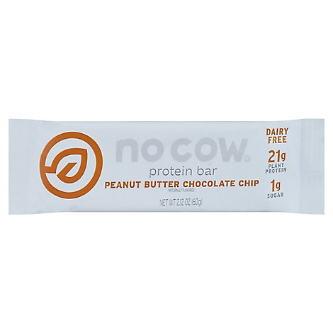No Cow Protein Bar Peanut Butter Chocolate Chip - 2.12 Oz