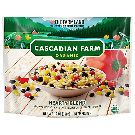 Cascadian Farm Bean Blk Rice Brwn Blend - 12 Oz