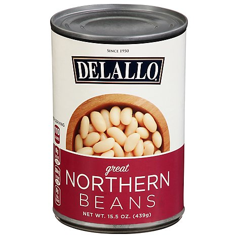 DeLallo Bean Great Northern - 15.5 Oz