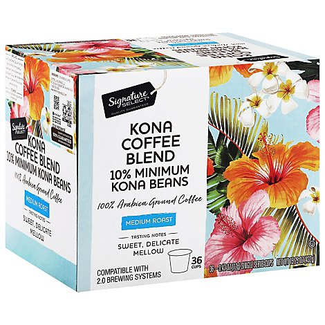 Signature Select Coffee Pod Kona Blend - 36 Count