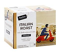 Signature Select Coffee Pod Italian Roast - 36 Count