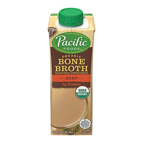 Pacific Foods Organic Bone Broth Beef - 8 Fl. Oz.