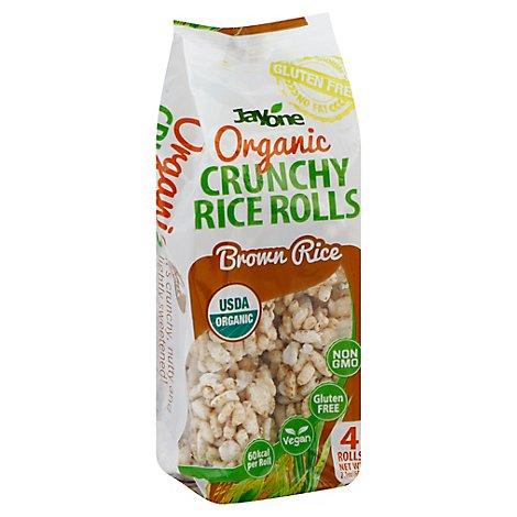 Jayone Rice Roll Organic Crunchy Brown Rice 4 Count - 2.1 Oz