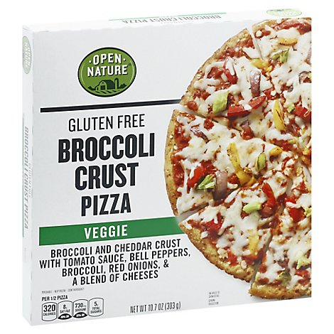 Open Nature Pizza Broccoli Crust Veggie - 10.7 Oz