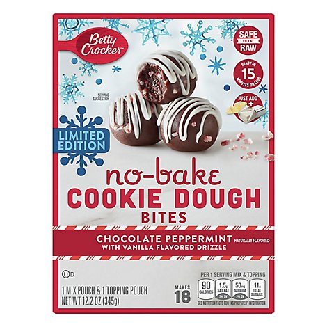 Betty Crocker Nobake Ck Dgh Bites Choc Peppermint - Each