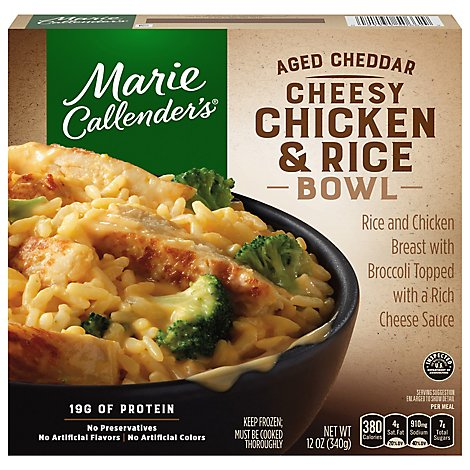 Marie Callenders Bowl Aged Cheddar Cheesy Chicken & Rice - 12 Oz