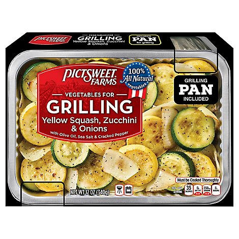 Pictsweet Farms Vegetables For Grilling Yellow Squash Zucchini & Onions - 12 Oz