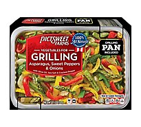 Pictsweet Farms Vegetables For Grilling Asparagus Sweet Peppers & Onions - 11 Oz
