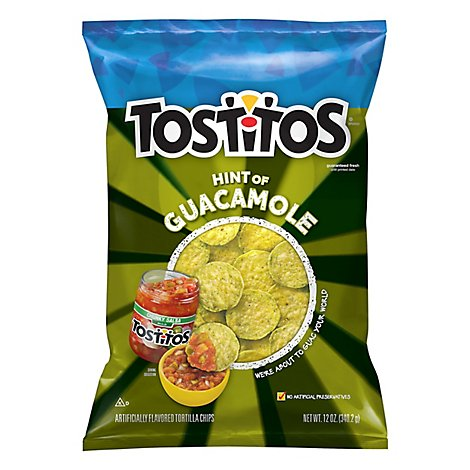 Tostitos Bite Size Tortilla Chips Touch Of Guacomole - 12 Oz