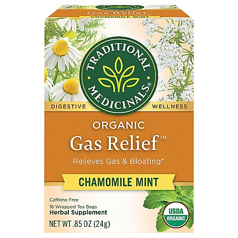 Traditional Medicinals Organic Herbal Tea Gas Relief - 16 Count