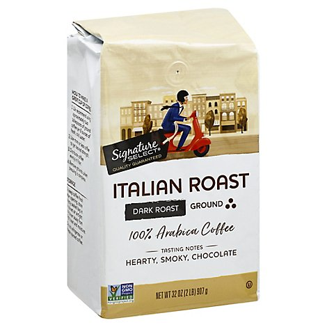 Signature Select Coffee Italian Roast Ground - 32 Oz