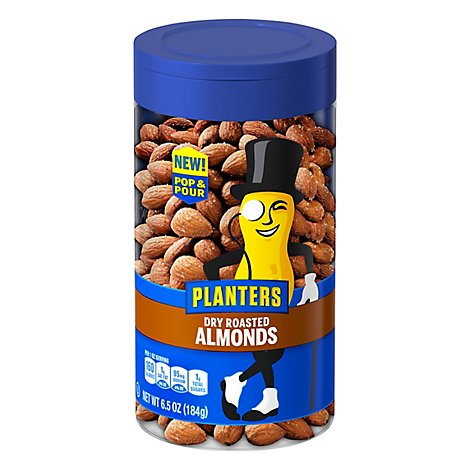 Planters Almonds Dry Roasted - 6.5 Oz