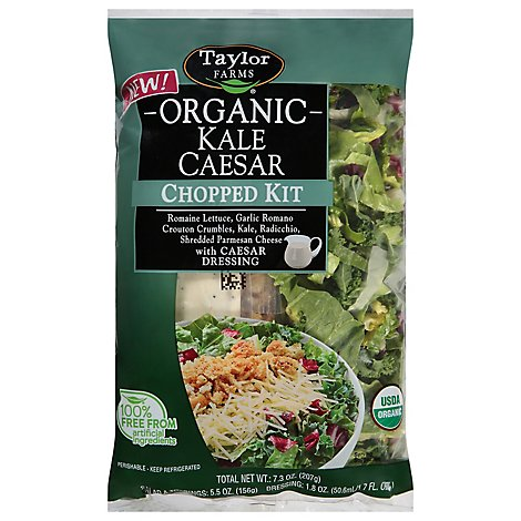 Taylor Farms Kale Caesar Organic Chopped Kit - 7.3 Oz