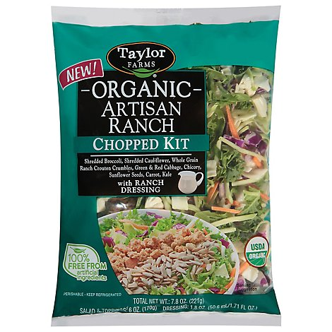 Taylor Farms Artisan Ranch Chopped Organic Kit - 7.8 Oz