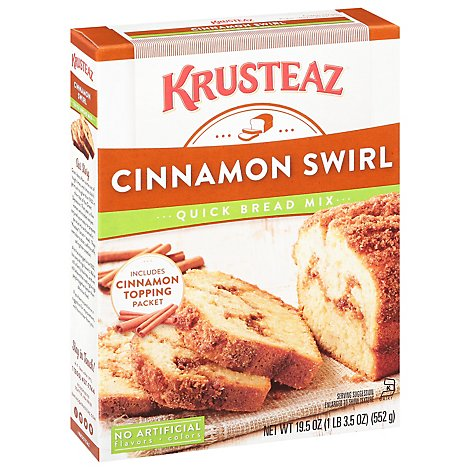 KRUSTEAZ Quick Bread Mix Cinnamon Swirl - 19.5 Oz