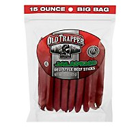 Old Trapper Jalapeno Deli Style Beef Sticks - 15 Oz