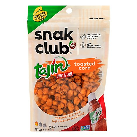 Snak Club Toasted Corn Tajin Chili & Lime Mild - 4 Oz