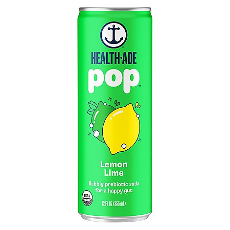 Health Ade Booch Pop Lemon Lime - 12 Fl. Oz.