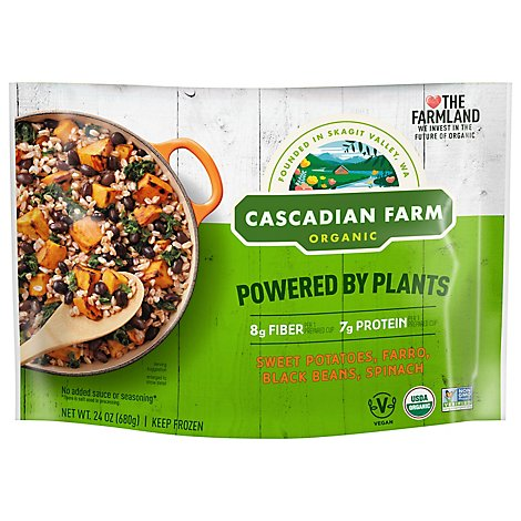 Cascadian Farm Organic Powered By Plants Sweet Potatoes Farro Black Beans & Spinach - 24 Oz