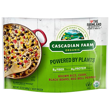 Cascadian Farm Organic Powered By Plants Brown Rice Corn Black Beans & Red Bell Pepper - 24 Oz