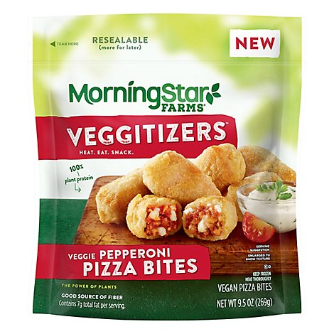 MorningStar Farms Veggie Bites Pepperoni Pizza - 9.5 Oz