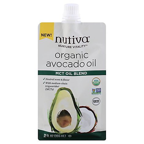 Nutiva Avocado Mct Oil Blend - 12 Oz