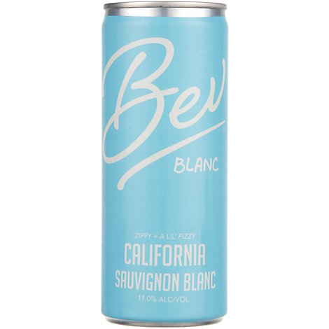 Bev Ca Sauvignon Blanc Can Wine - 4-250 Ml