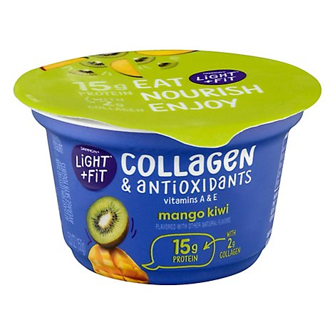 Dannon Light + Fit Yogurt Nonfat With Collagen & Antioxidants Mango Kiwi - 5.3 Oz