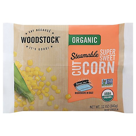 Woodstock Organic Steamable Super Sweet Corn - 12 Oz