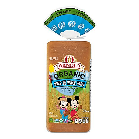 Arnold Organic White Made With Whole Wheat - Each