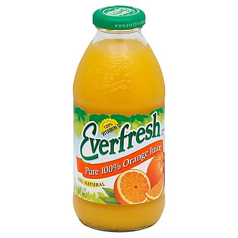 Everfresh Pure 100% Orange Juice - 16 Fl. Oz.