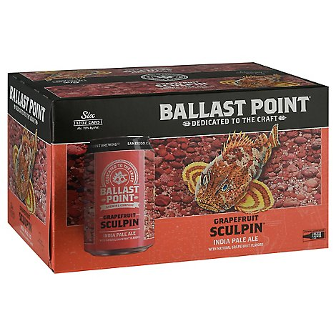 Ballast Point Grapefruit Sculpin Ipa In Cans - 6-12 Fl. Oz.