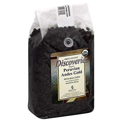 1st Colony Coffee Bean Whole Peru Andes - 24 Oz