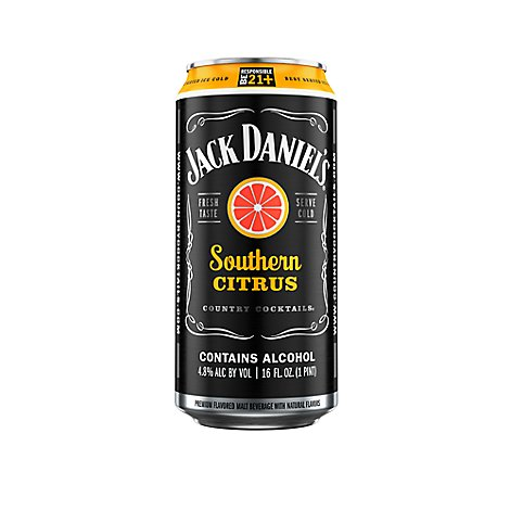 Jack Daniels Country Cocktails Malt Beverage Southern Citrus 9.6 proof - 16 Oz