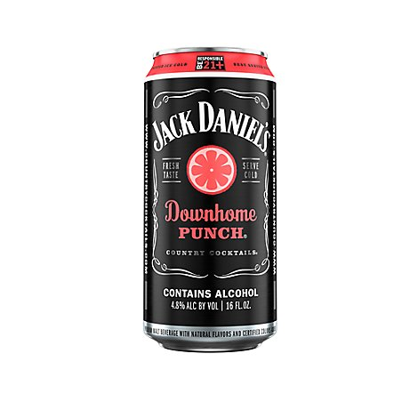 Jack Daniels Beverage Malt Country Cocktails Downhome Punch 9.6 Proof - 16 Oz