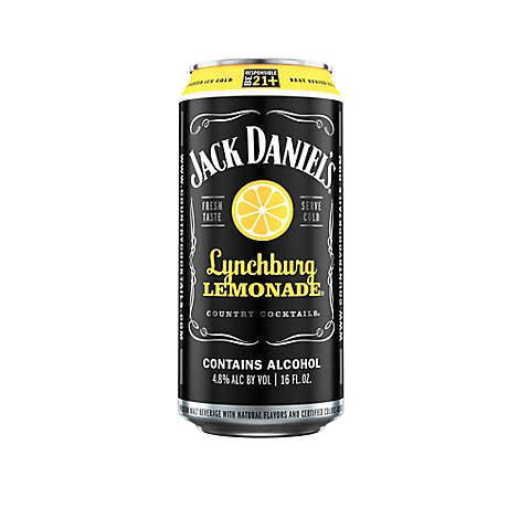 Jack Daniels Country Cocktails Malt Beverage Lynchburg Lemonade 9.6 Proof - 16 Oz