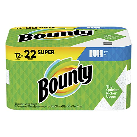 Bounty Select A Size White Towels - 12 Roll