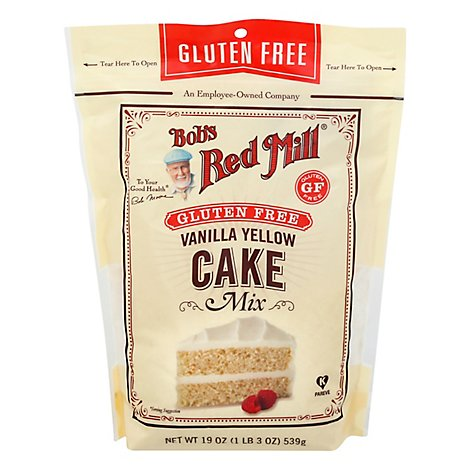 Bobs Red Mill Cake Mix Gluten Free Vanilla - 19 Oz