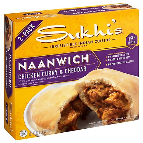 Sukhis Sandwich Chicken Curry Chddr - 10.4 Oz