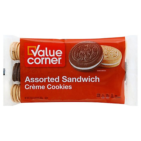 Value Corner Cookie Sandwich Assorted - 25 Oz