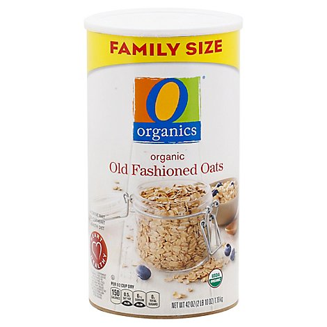 O Organics Oatmeal Old Fashion Family Size - 42 Oz