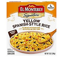 El Monterey Signature Frozen Side Dish Yellow Spanish Style Rice - 12 Oz